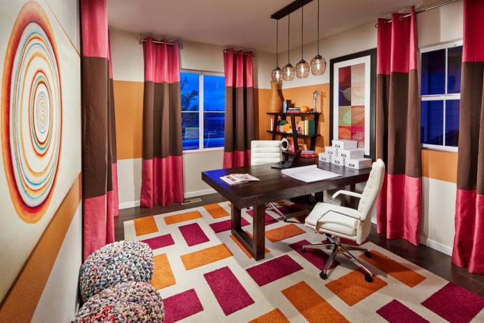 Двухцветные шторы в интерьере: 66 фото, лучшие идеи комбинирования