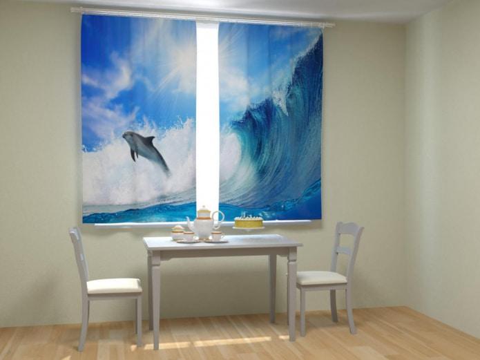 Фотошторы с дельфинами