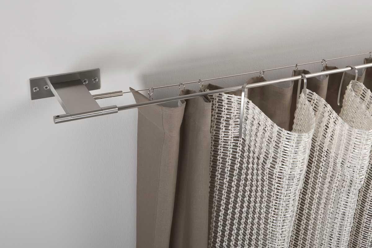Струнный карниз для штор – устройство и особенности