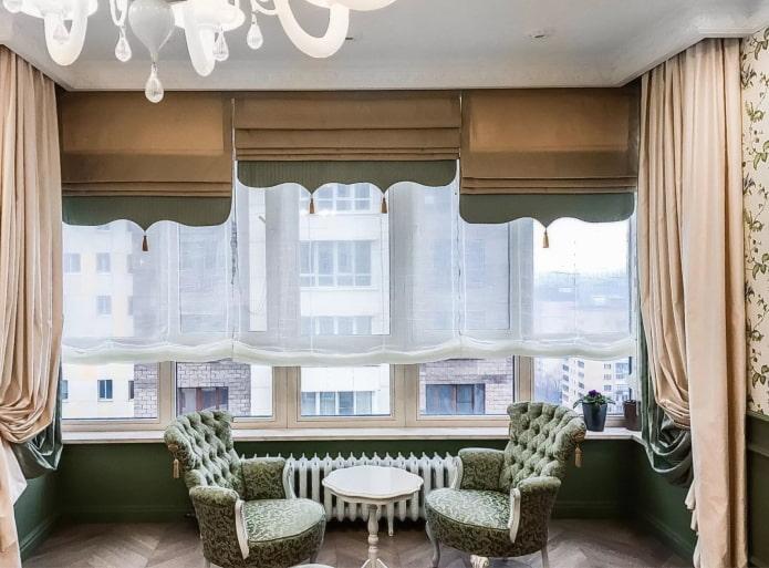Двойные шторы: 70 фото в интерьере, избранные идеи оформления окна