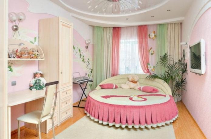 двойные гардины в детской комнате