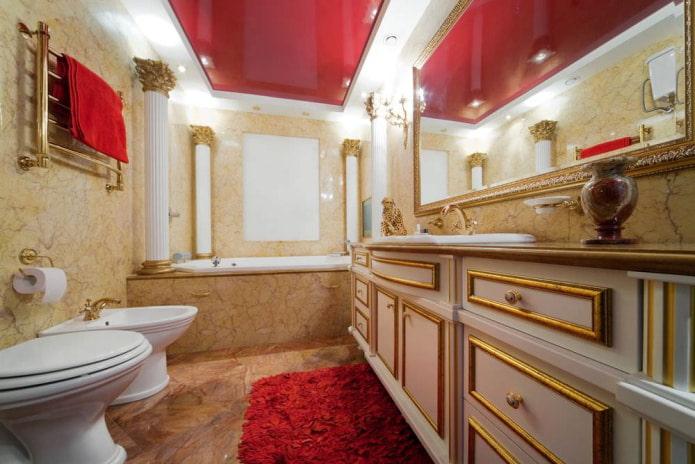совмещенная ванная с большим зеркалом