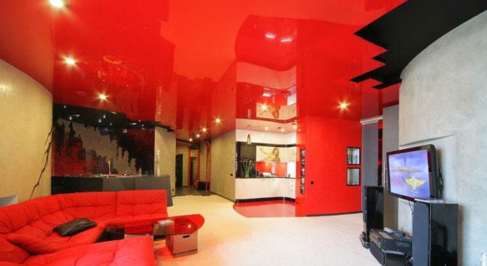потолок с черными вставками