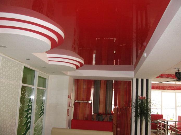 3-х уровневый фигурный потолок