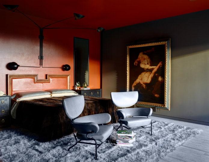 спальня в современном стиле фьюжн