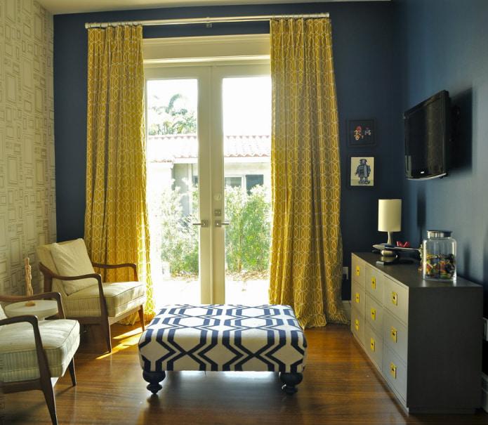 сине-желтая комната