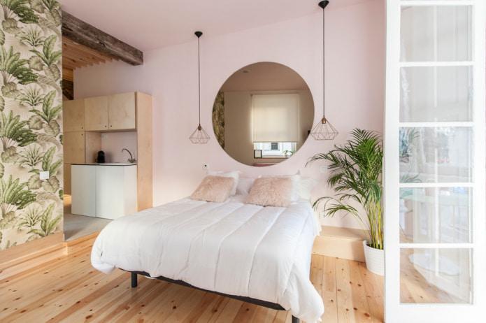 компактная спальня в современном эко-стиле
