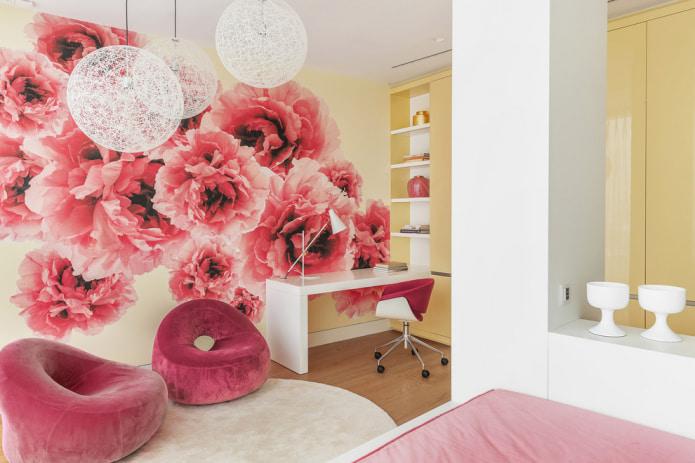 розовые кресла