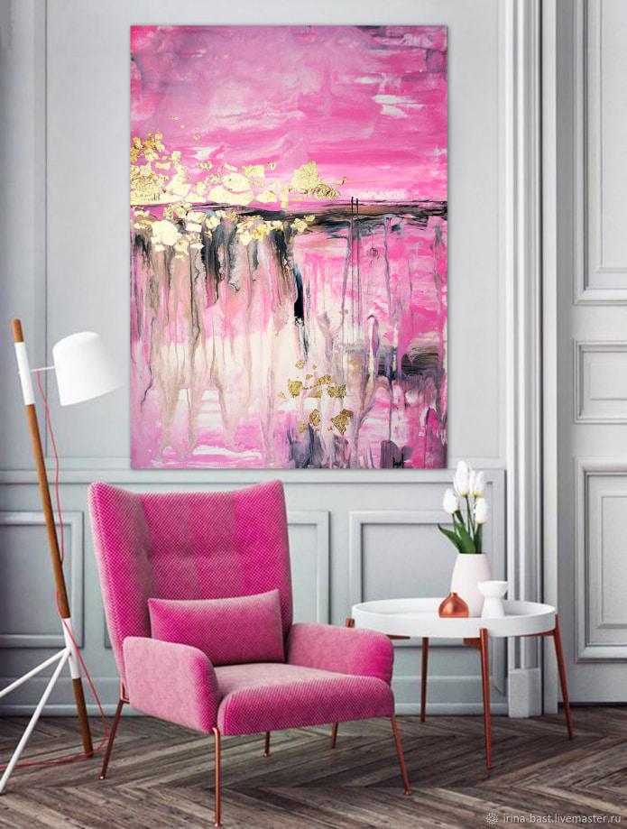 картина в розовых тонах