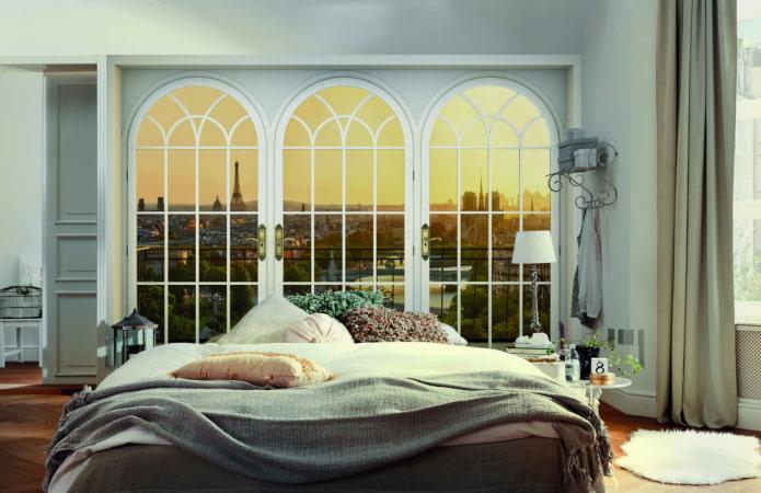 3д обои с видом из окна в спальне