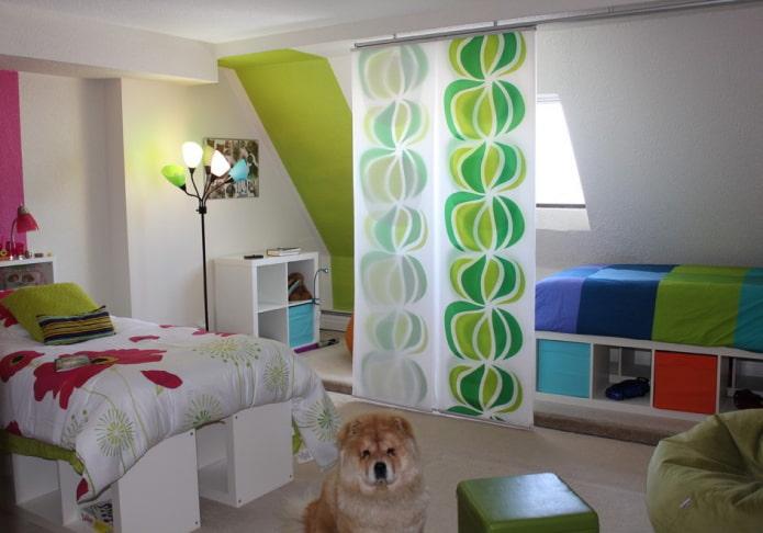Зонирование комнаты шторами: фото примеры, интересные варианты деления пространства