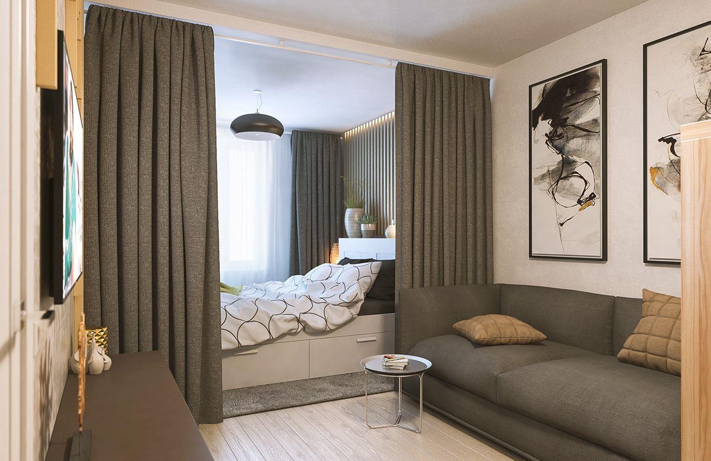 объявления объединение спальни и гостиной фото граница различия