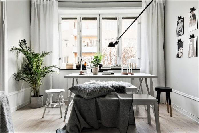 Шторы в скандинавском стиле: 50 фото в интерьере, лучшие идеи оформления окна