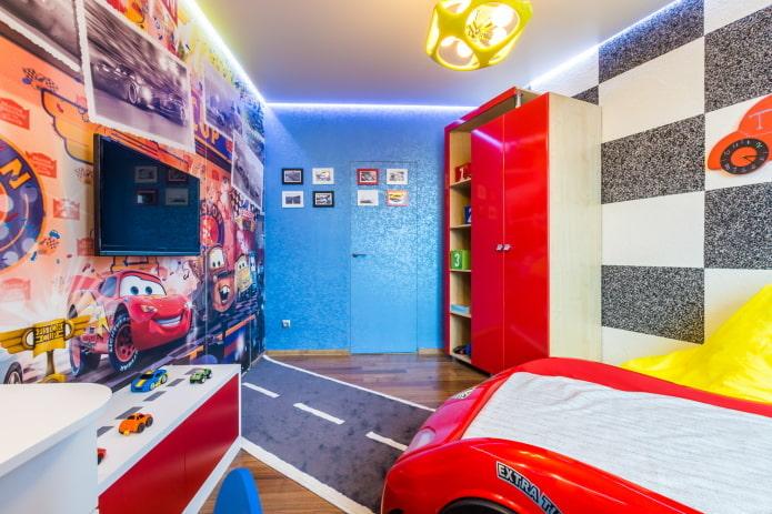 светодиодная лента по периметру потолка в детской