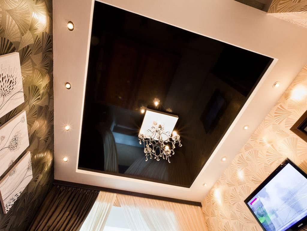 потолки натяжные с коробом фото в спальню пару дополнительных функций