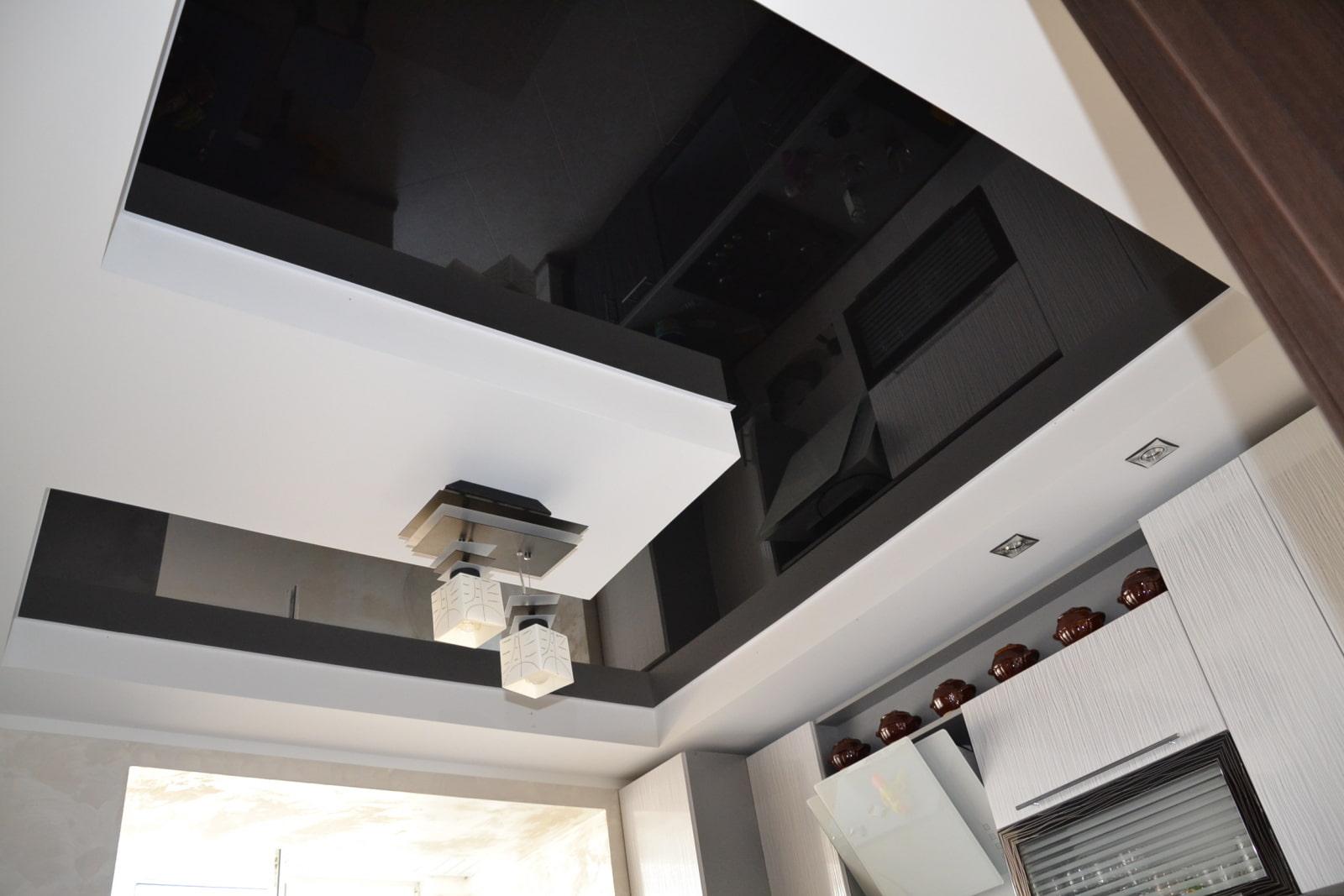 черный натяжных потолков на кухню фото тебе, много