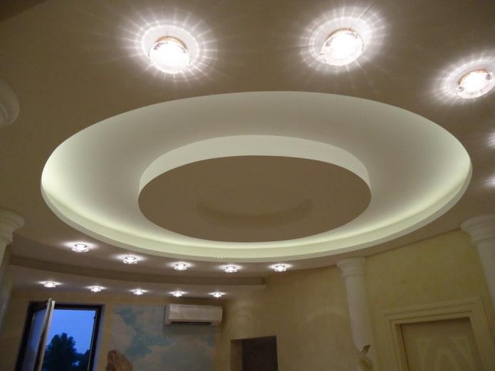 гипсокартонная конструкция круглой формы