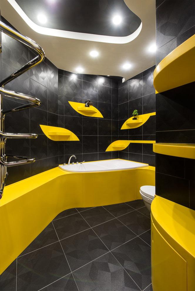 конструкции из гипсокартона в ванной комнате