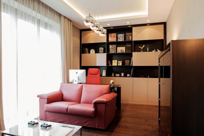 гипсокартонная конструкция в маленькой комнате