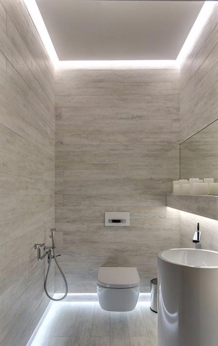 подсветка в туалете