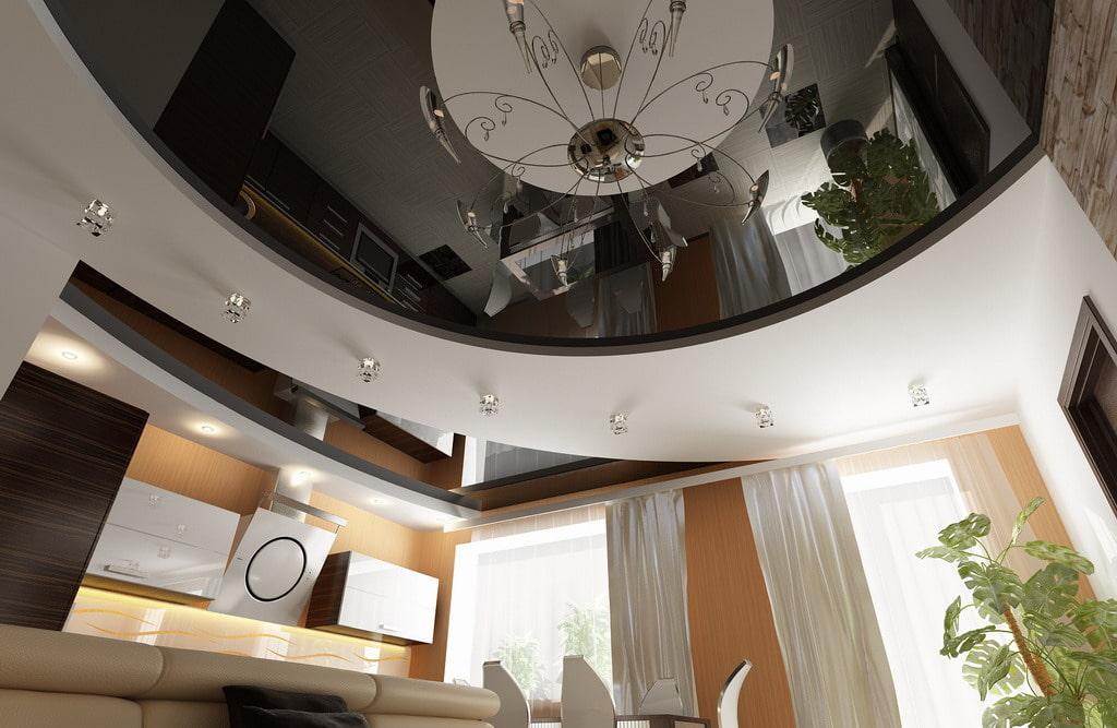 больше всего дизайн двухуровневого натяжного потолка фото при съемке