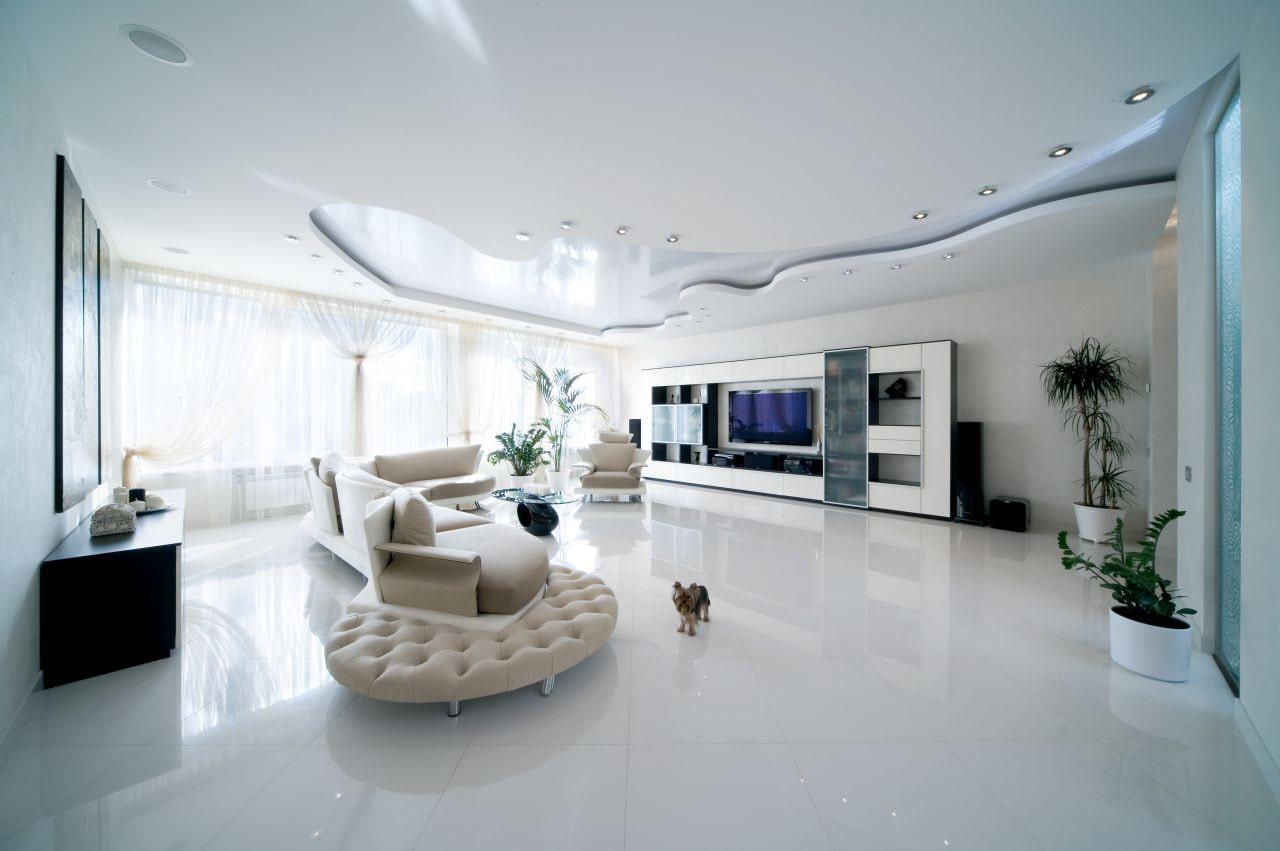 оформление потолков в частном доме фото натяжные
