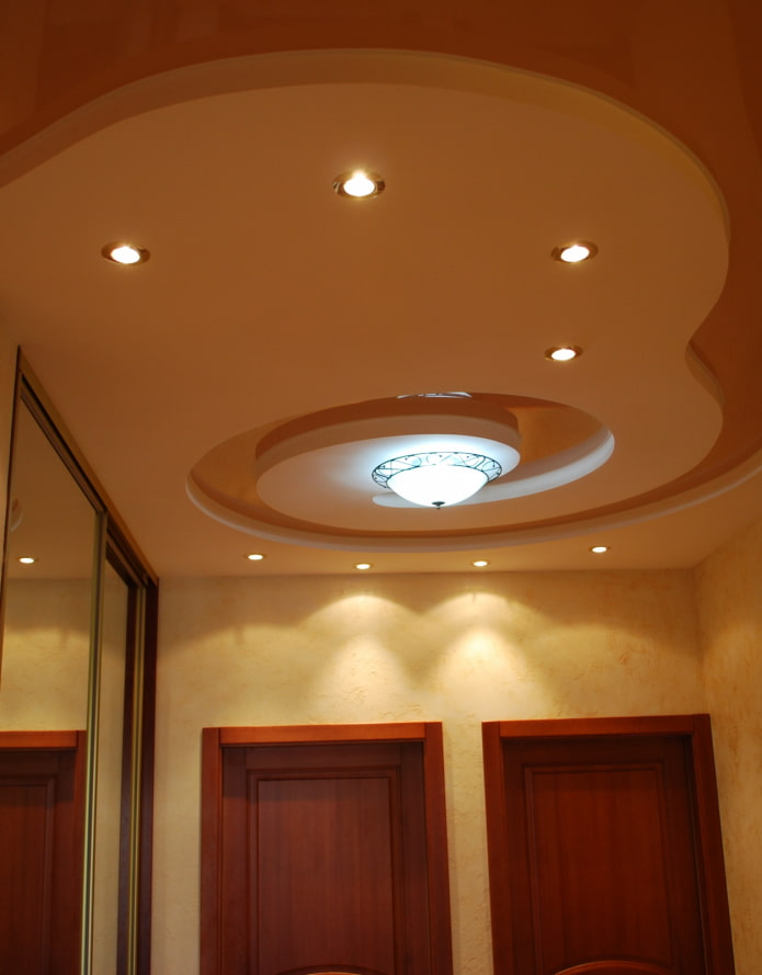 натяжная потолочная конструкция сложной формы
