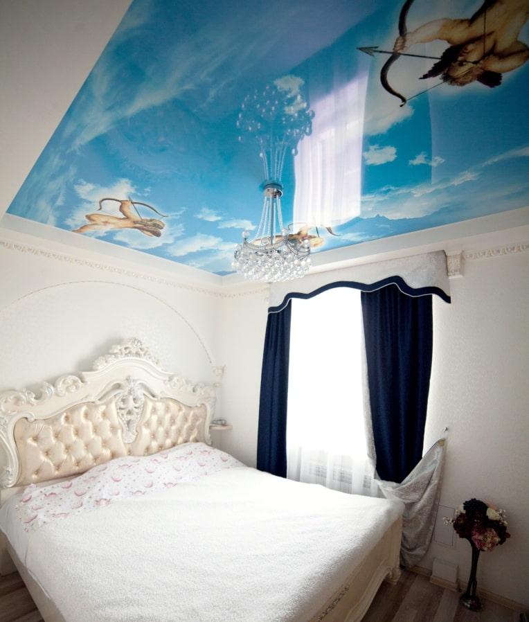 потребуется картинки на натяжной потолок фотопечать в спальню небольшой, очень