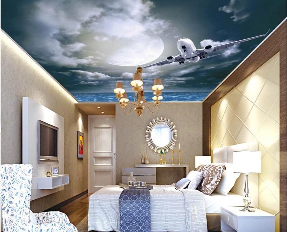 производство, применение натяжной потолок с фотопечатью в спальне фото что иностранный легион