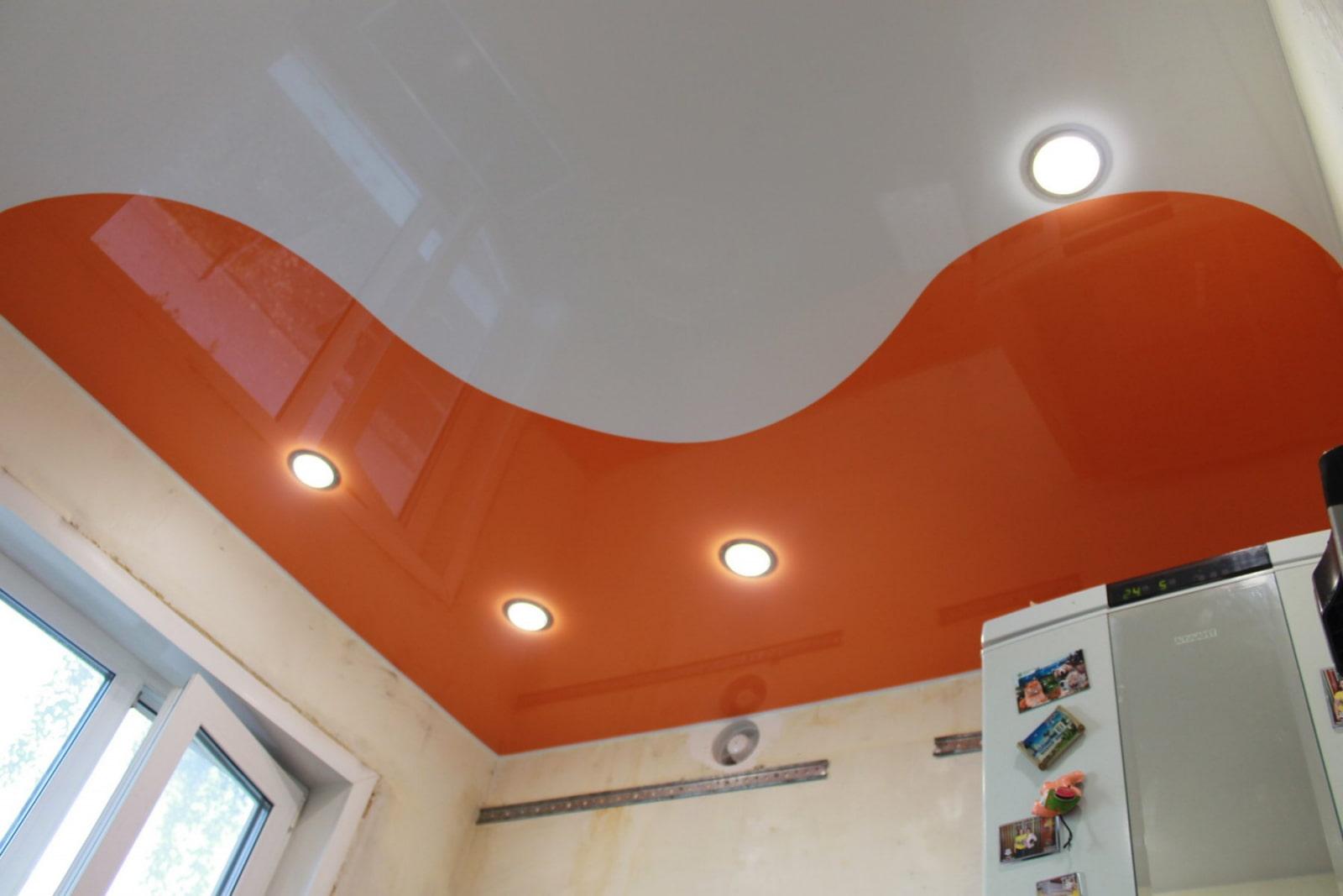 Криволинейные натяжные потолки в картинках