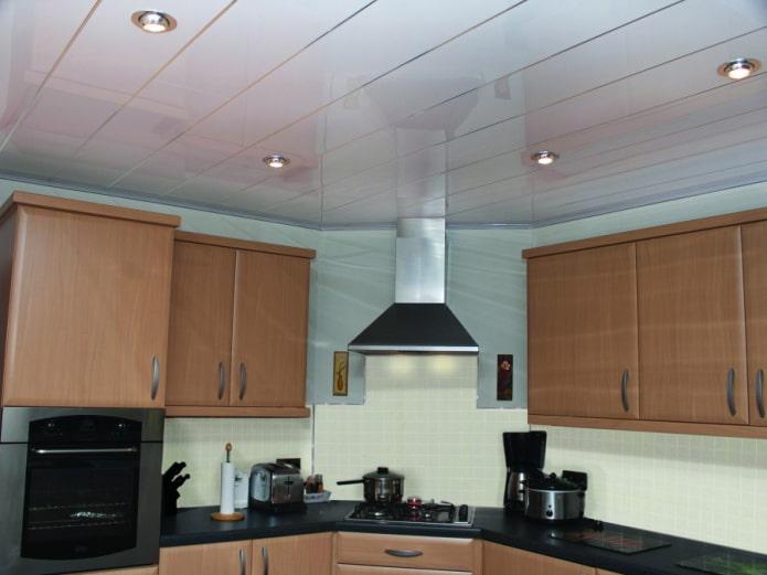 Реечный потолок: 100 фото, примеры в кухне, ванной, туалете, балконе, прихожей, гостиной