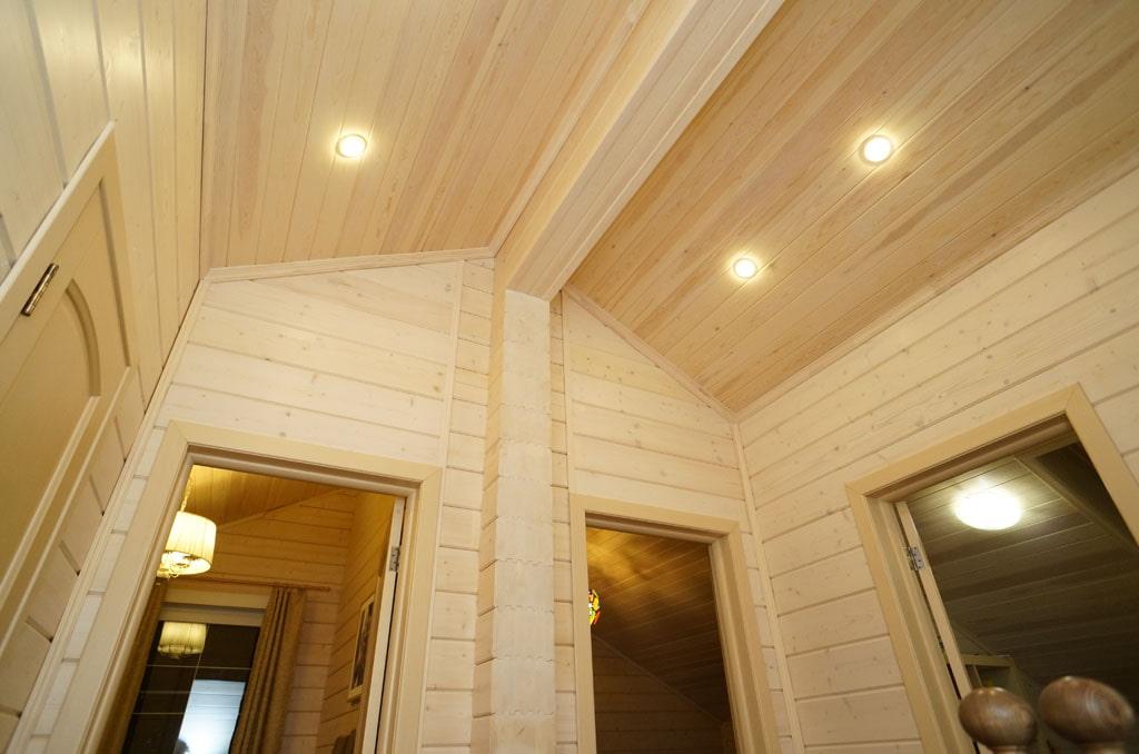 потолок из липы в доме фото чем мечтать еще