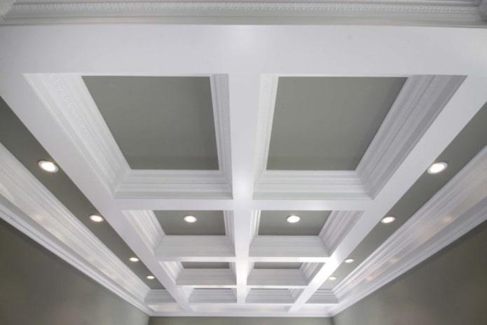 Кессонный потолок: 50 фото, лучшие идеи оформления