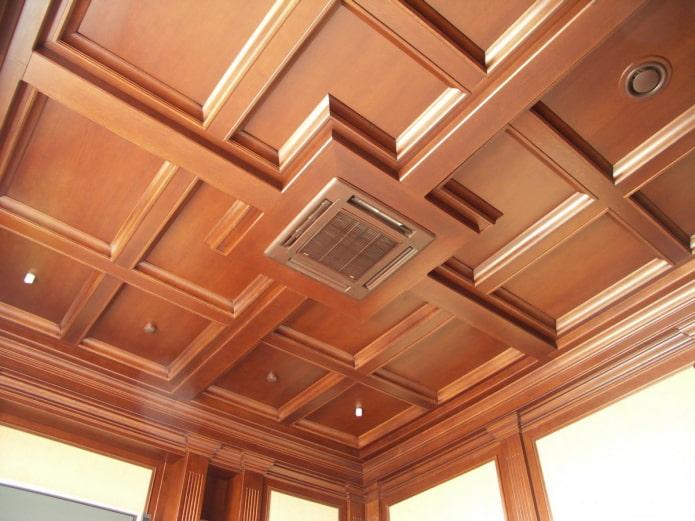 коричневая кессонная конструкция