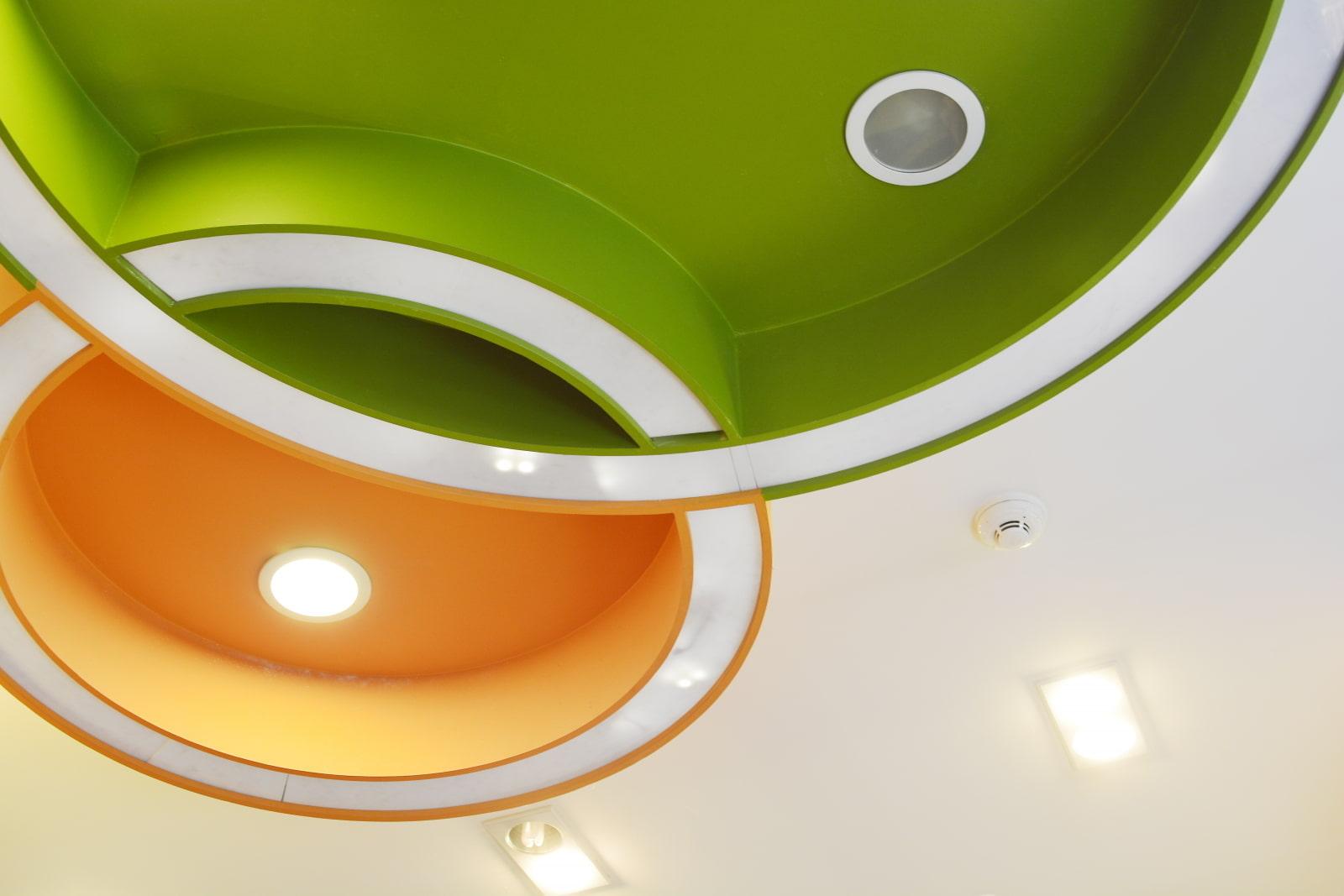 новых натяжной потолок цветной картинки устья реки