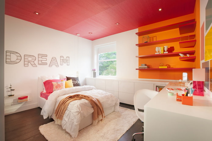 Потолок розового цвета: 70 фото в интерьере, современные идеи дизайна
