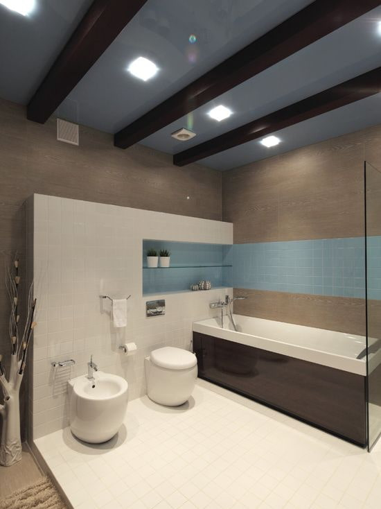 Серо-голубой потолок