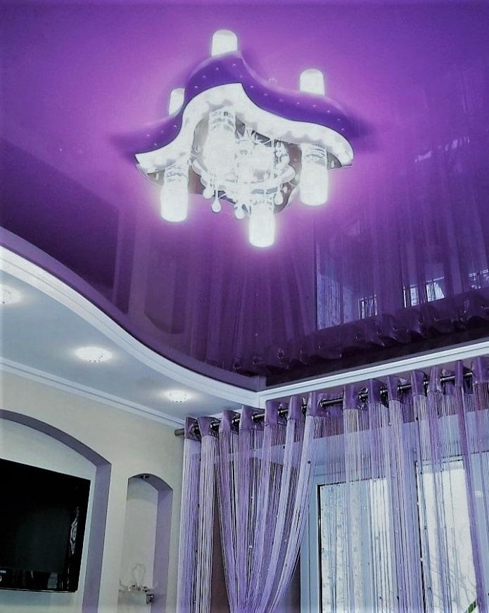 двухуровневая подсветка потолка