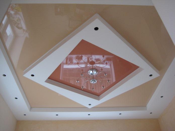 Фигурный потолок: 70 фото, идеи для двухуровневых и многоуровневых конструкций
