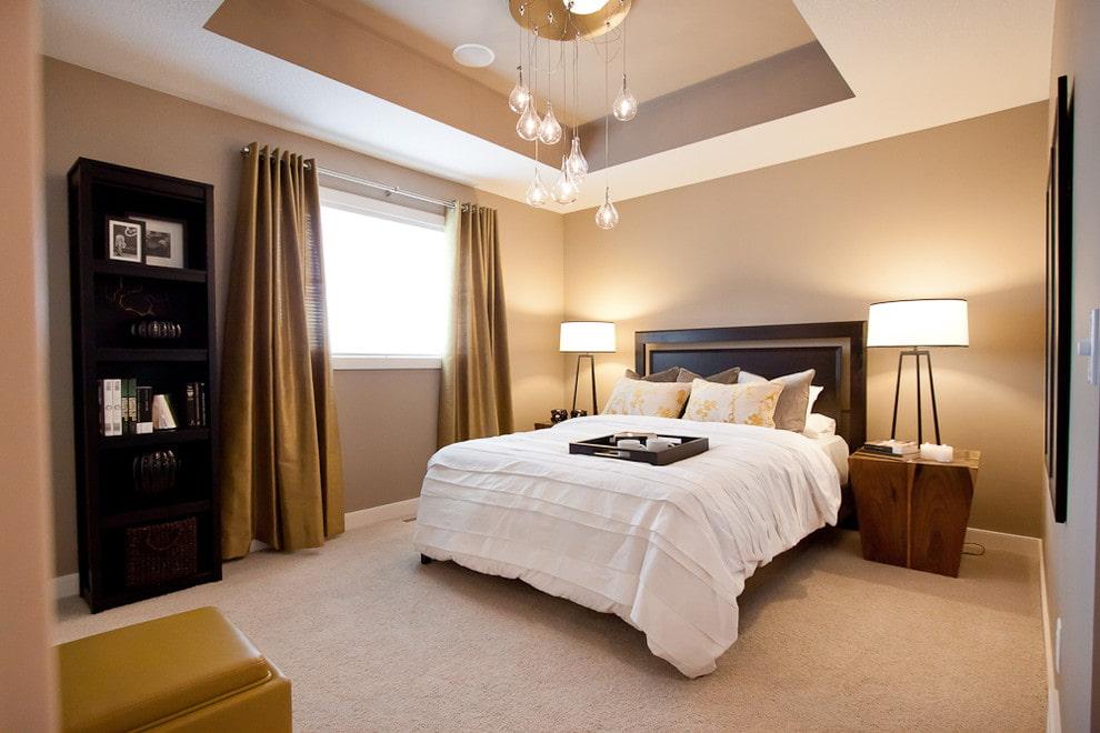 первый потолок в спальне подвесной фото вакуум