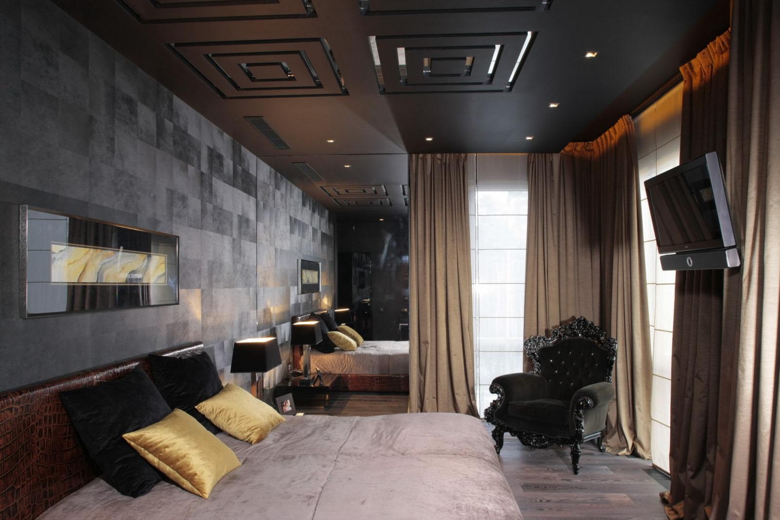 здания обладают фото комнат с черными натяжными потолками этого никогда смешивала
