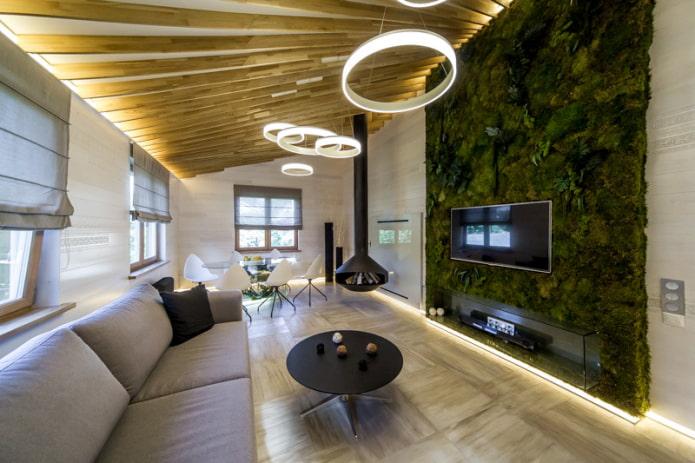 Потолок на мансарде: 70 фото в интерьере, современные идеи оформления