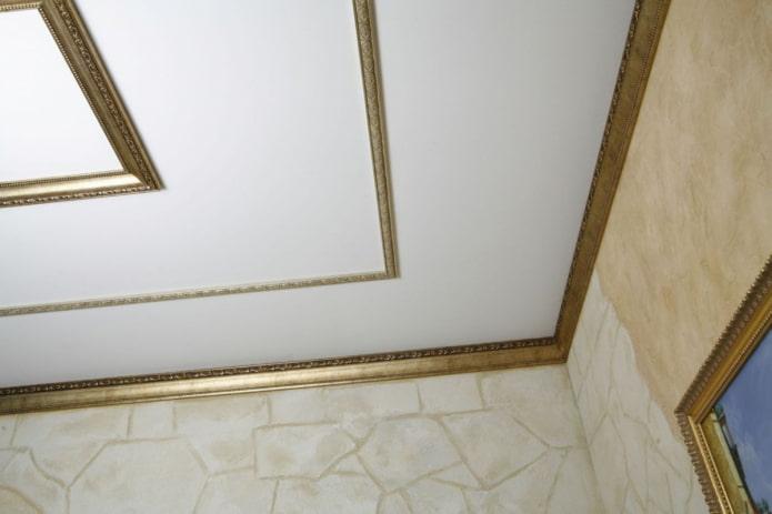 узкая потолочная галтель