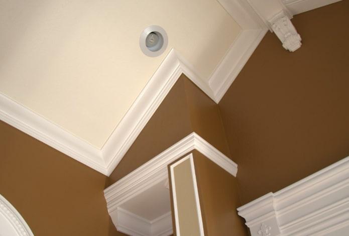 галтели на скошенном потолке