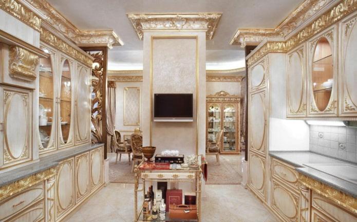 потолочные галтели в классическом стиле