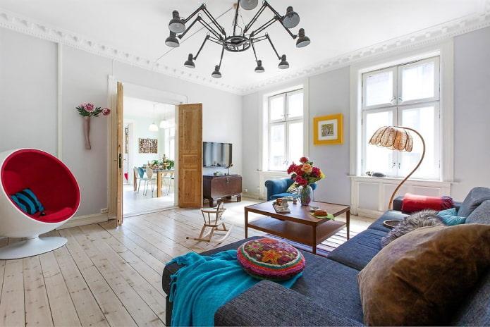 потолочные галтели в скандинавском стиле