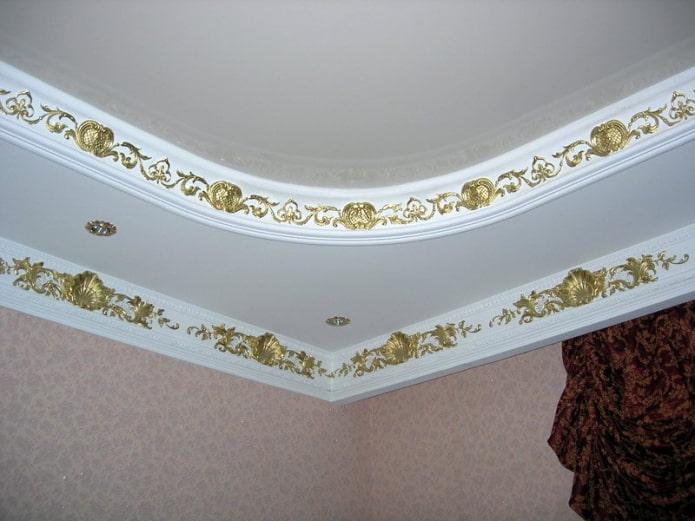 галтели на двухуровневом потолке