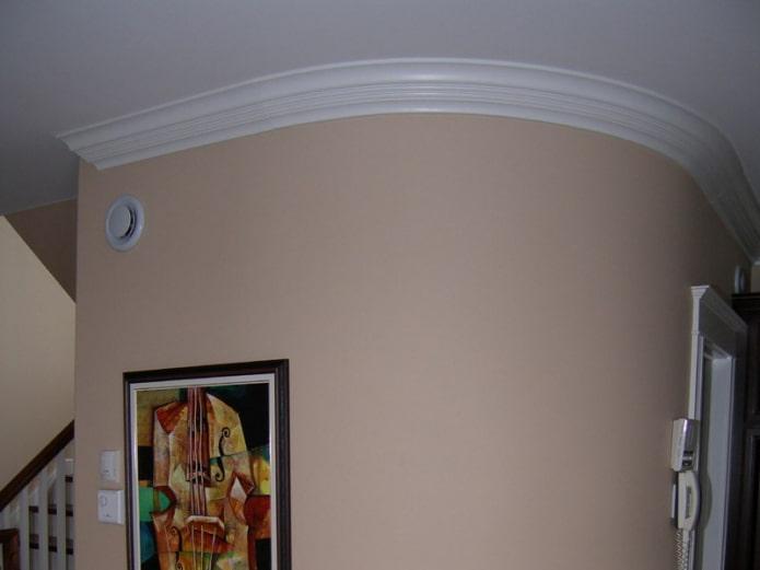 галтели на закругленном потолке