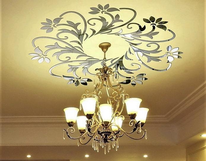 декоративные наклейки на потолок