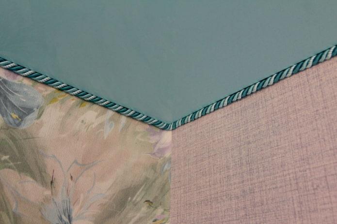 декоративный канат на потолке